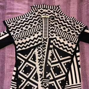 Aztec knit cardigan